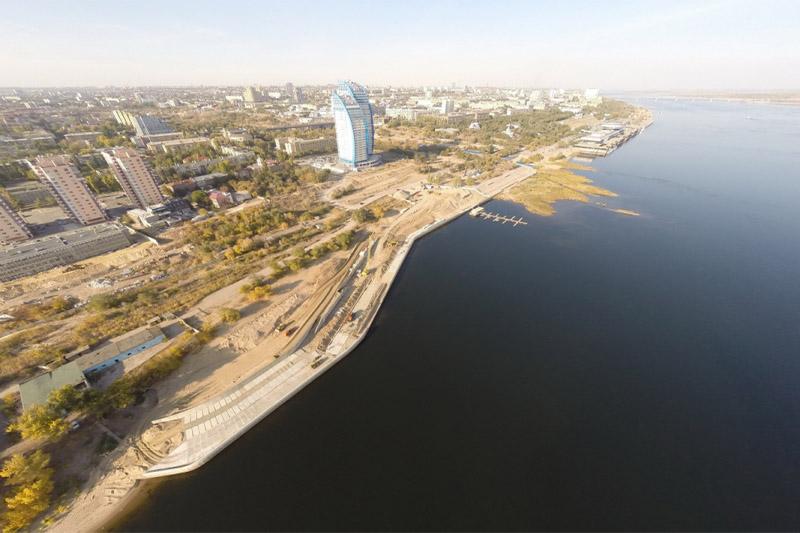 Берегоукрепление правого берега р. Волга в г. Волгограде
